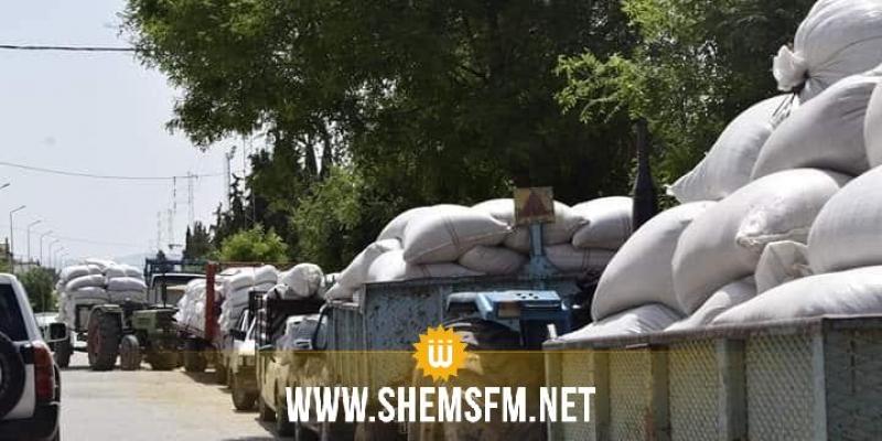 تخصيص 30 شاحنة تابعة للجيش الوطني لنقل صابة الحبوب