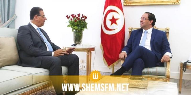 رئيس الحكومة يلتقي السفير المصري في تونس