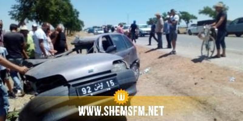 (بالصور) جندوبة: قتيل وثلاثة جرحى في إصطدام بين سيارة وشاحنة