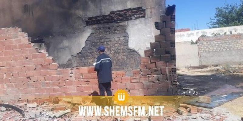 سيدي بوزيد: السيطرة على حريق نشب في محل لبيع المحروقات المهربة