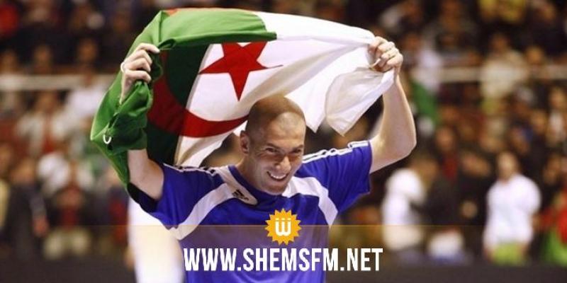 زيدان يهنئ المنتخب الجزائري برسالة مؤثرة