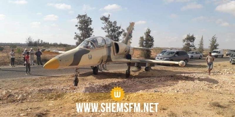 Médenine : atterrissage d'urgence d'un avion militaire libyen (Photos)