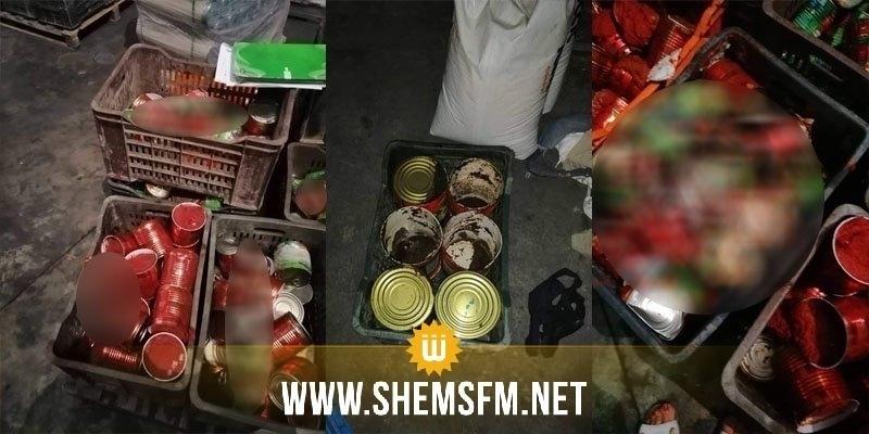 Nabeul : saisie de plus de 40 mille boites de tomates en conserve impropres à la consommation