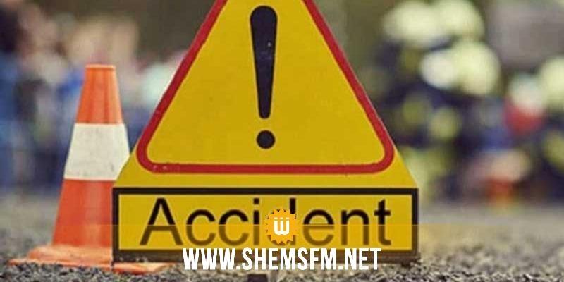 القصرين: وفاة 3 أشخاص وإصابة 4 آخرين في حادث إنقلاب سيارة