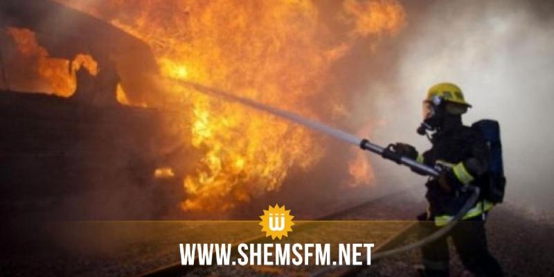 نابل: نشوب حريق بمصب للفضلات البلاستيكية في المنطقة الصناعية بدار شعبان الفهري