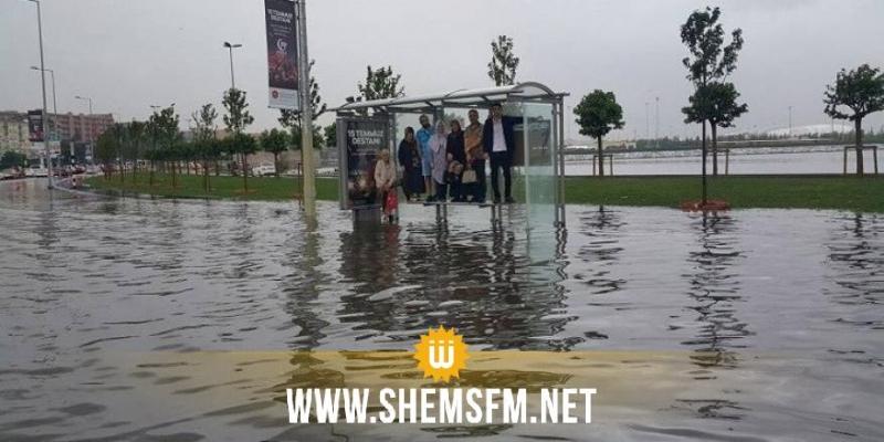 أمطار غزيرة وفيضانات تجتاح إسطنبول