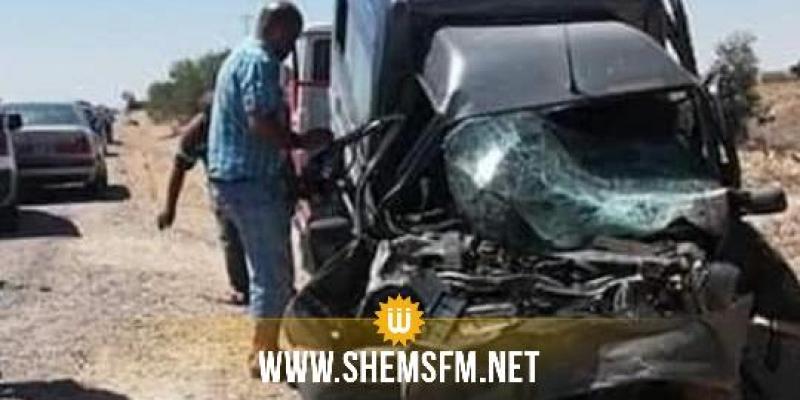 مدنين: وفاة إمراة وإصابة 12 آخرين في حادث مرور