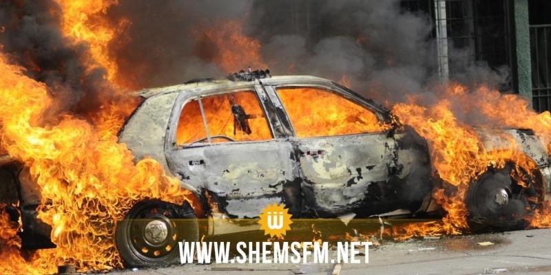 بن قردان: إحتراق سيارة بمعبر راس الجدير من جانبه الليبي