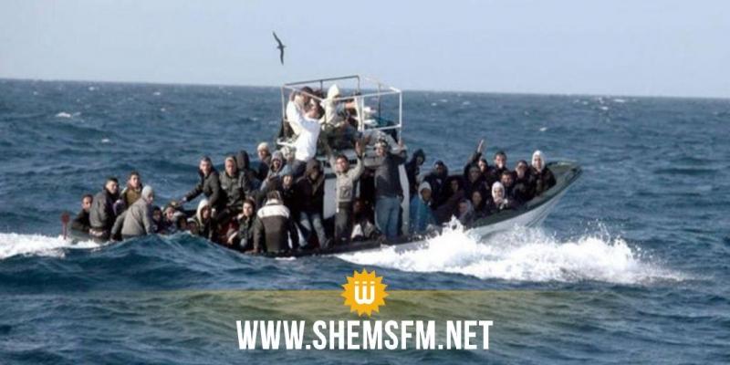 المهدية: إنقاذ مجتازين غير نظاميين من الغرق تعطل مركبهم في عرض البحر لمدة يومين