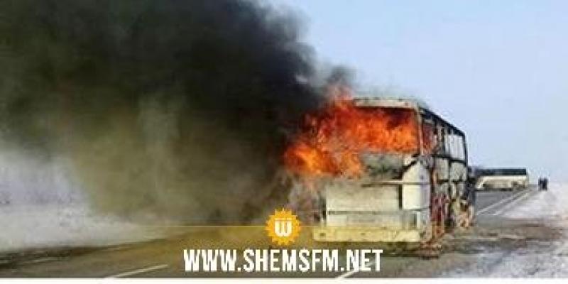 Sousse : un bus de la STS prend feu