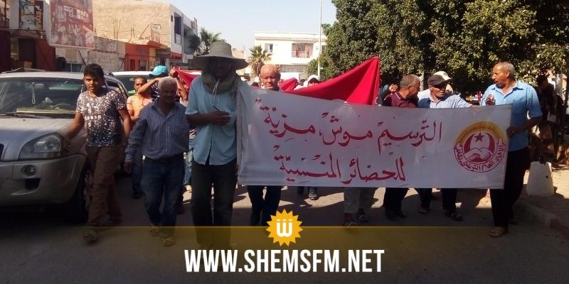 قبلي: عمال الحضائر في إضراب