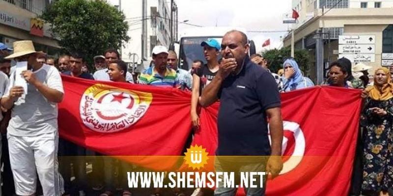 مدنين : عمال الحضائر يحتجون ويطالبون بتسوية وضعيتهم المهنية