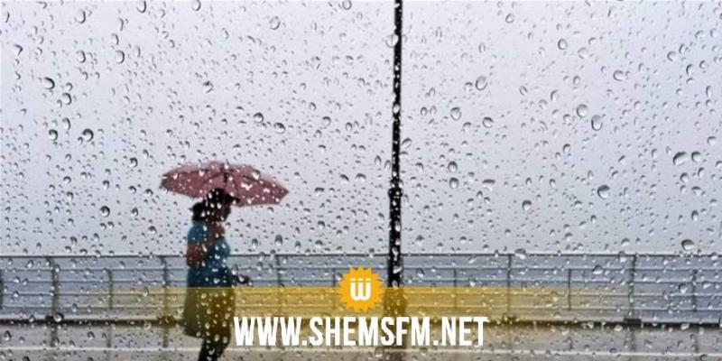 أمطار غزيرة مع تساقط البرد حاليا بعدد من الولايات