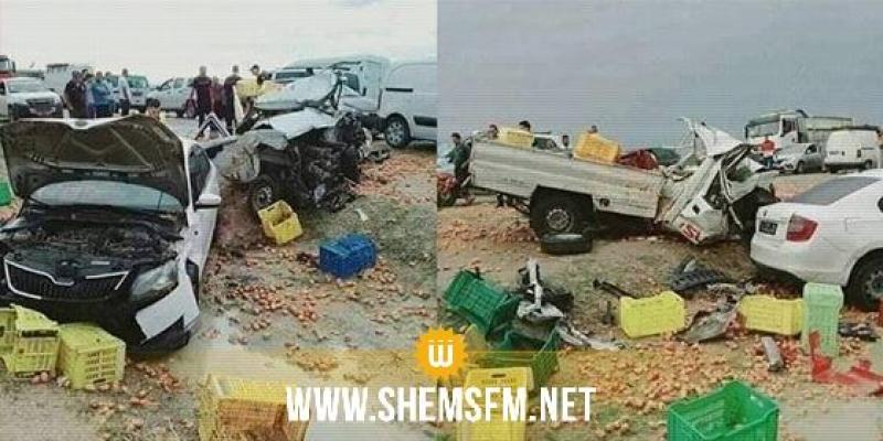 القيروان: وفاه كهل وإصابة شخصين في حادث إصطدام مزدوج