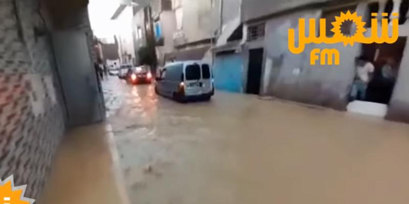 تواصل عمليات شفط المياه بعدة أحياء في العاصمة