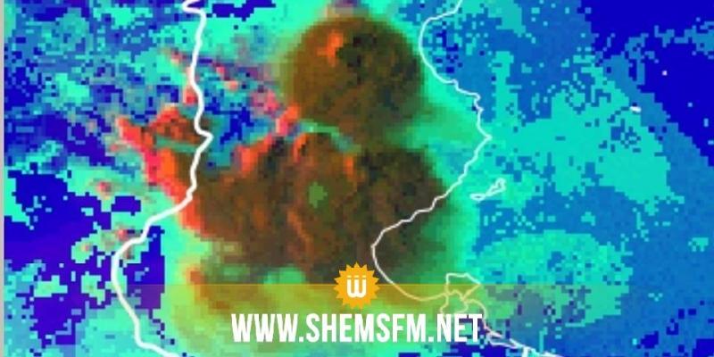 الرصد الجوي اتساع رقعة السحب الرعدية المرفوقة بأمطار غزيرة والبرد