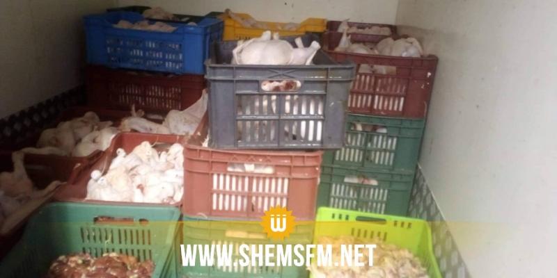 قرمبالية: حجز 400 كغ من لحوم الدجاج الفاسدة (صور)