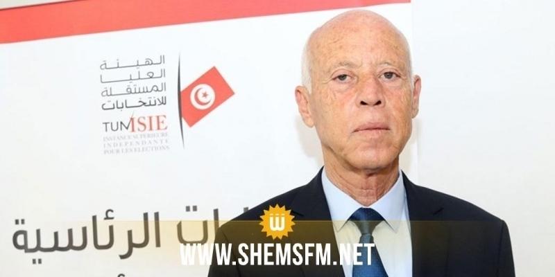 قيس سعيد: 'سنعمل في الخارج من أجل القضايا العادلة وأولها القضية الفلسطينية'
