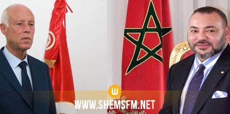 الملك محمد السادس يوجه برقية تهنئة إلى قيس سعيد