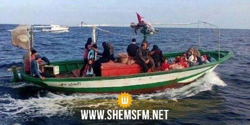 جرجيس: وحدات بحرية تابعة لجيش البحر تنقذ 89 مهاجر غير شرعي بينهم تونسيين