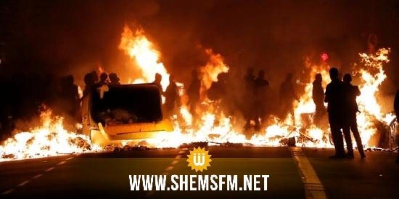 إحتجاجات كاتالونيا: إشعال الحرائق ومحاولات لإقتحام المكاتب الحكومية