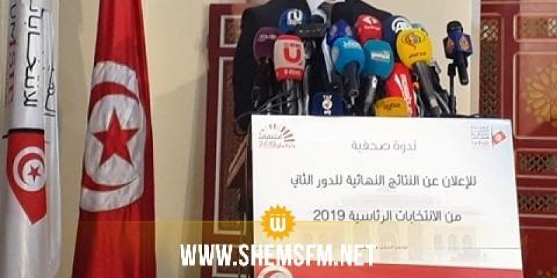 رئاسية 2019: هيئة الإنتخابات تعلن قيس سعيد رئيسا للجمهورية التونسية