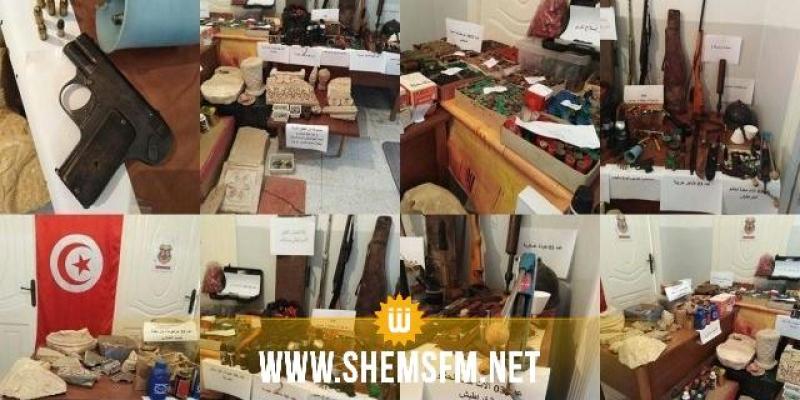 تستور: مسدس حربي وخراطيش وتجهيزات عسكرية وتحف أثرية في ضيعة فلاحية