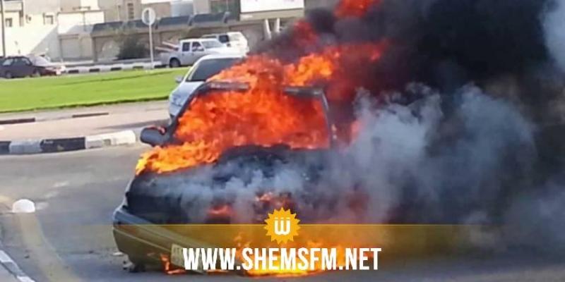 جربة: إشتعال النيران في سيارة تعليم سياقة واصابة شخصين بحروق متفاوتة الخطورة