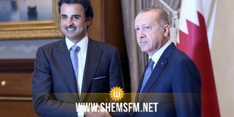 تركيا تشكر أمير قطر على دعم العملية العسكرية في سوريا
