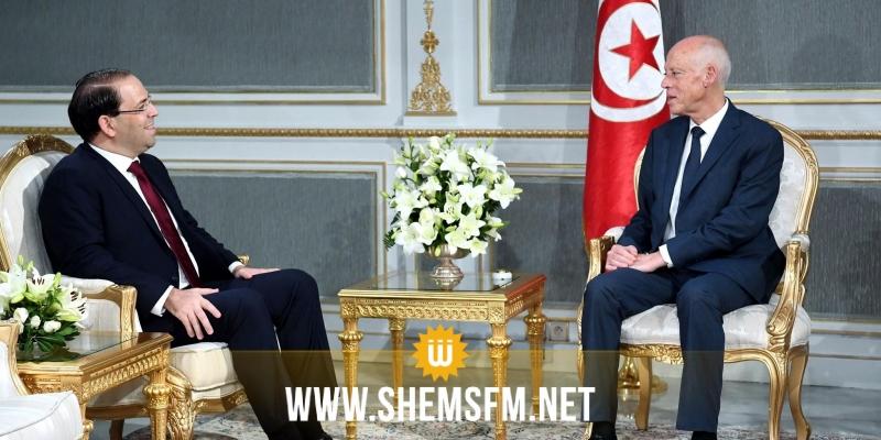 نتائج زيارة الجزائر محور لقاء قيس سعيّد بيوسف الشاهد