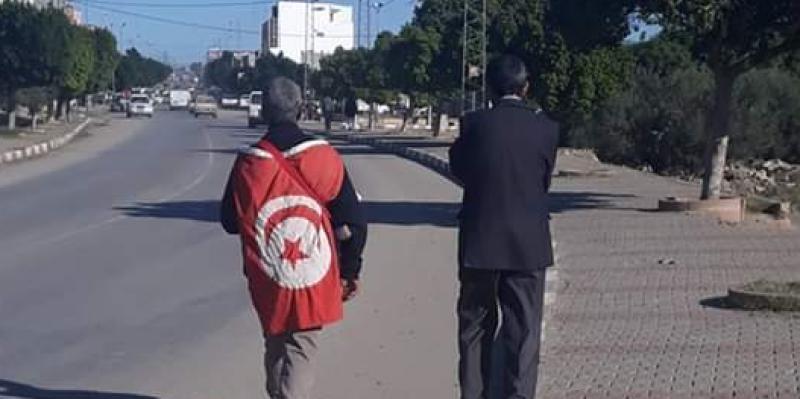 جلمة:  مسيرة على الأقدام نحو قصر قرطاج