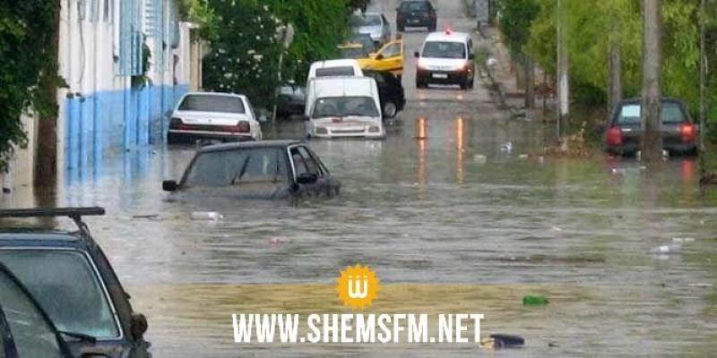 أريانة: تركيز 4 نقاط متقدمة للنجدة بعدد من الأحياء بعد نزول كميات هامة من الأمطار