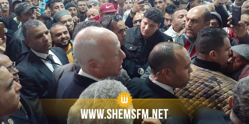 رئيس الجمهورية في زيارة فجئية إلى مدينة الوردانين