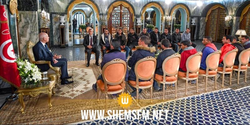 رئيس الجمهورية يستقبل مجموعة من شباب القصرين