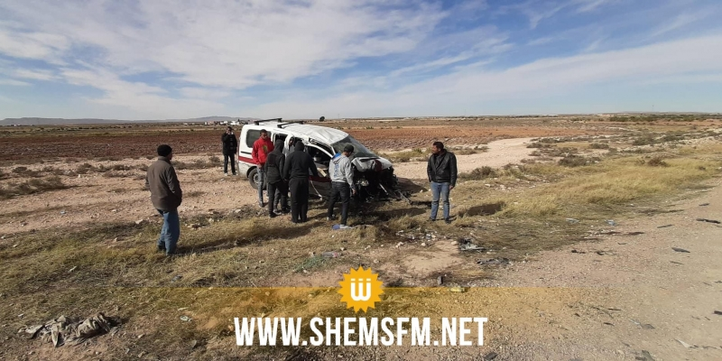 القصرين: إصابة 11 شخصا في حادث مرور