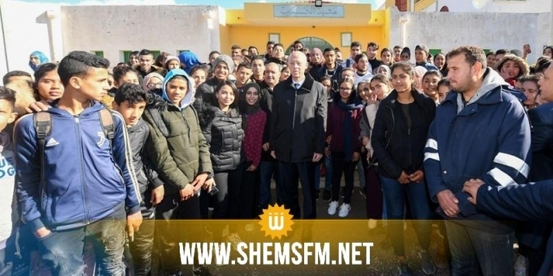 Seliana : Kais Saied se rend au lycée secondaire El Krib (Photos)