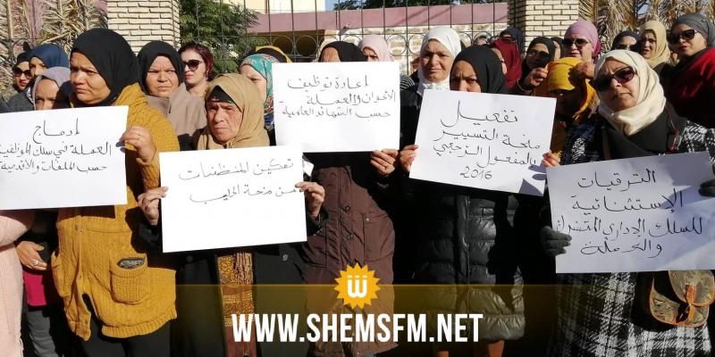 القصرين: إطارات وأعوان مؤسسات الشباب والرياضة ينفذون إضرابا