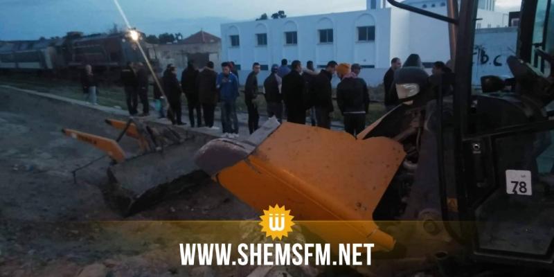 بوعرقوب: حادث تصادم بين قطار وجرافة