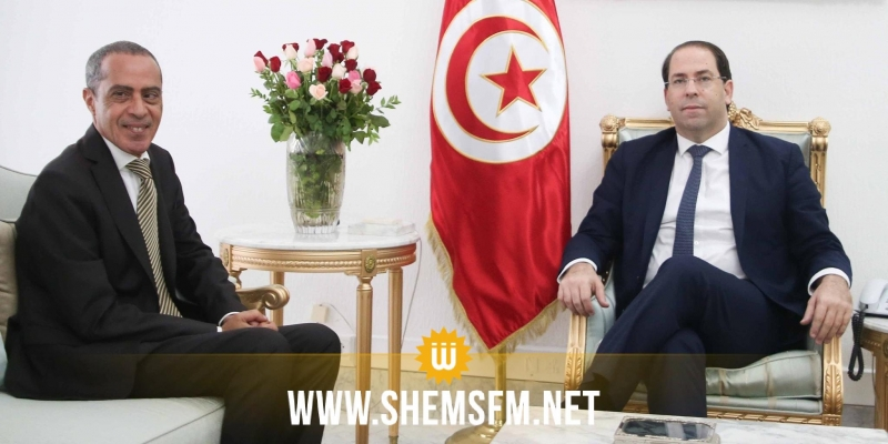 الشاهد يستقبل السفير الجزائري الجديد بتونس