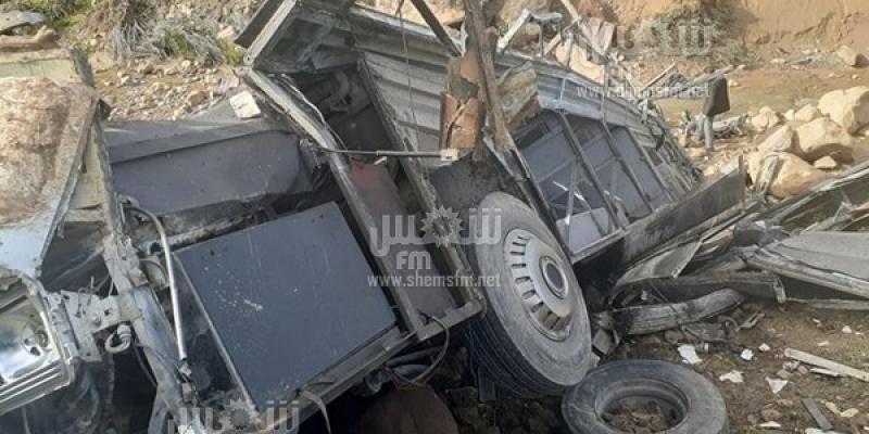 حادث عمدون: عدد الضحايا 26 ومصابين اثنين يغادران المستشفى اليوم