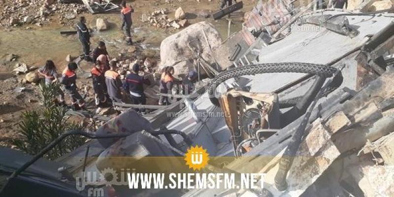 حادث عمدون: ارتفاع حصيلة القتلى إلى 27