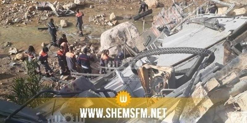 حادث عمدون: جمعية تونس للسلامة المرورية تتعهد بمساعدة المصابين وعائلاتهم مجانا