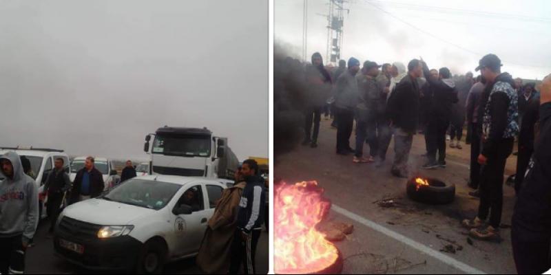 Kairouan : des agriculteurs et propriétaires des pressoirs à huile bloquent la route