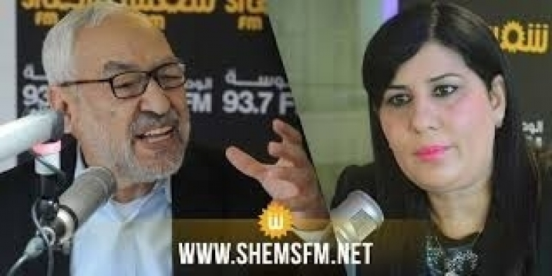 عبير موسي ترفض قبول دعوة راشد الغنوشي لاجتماع خاص