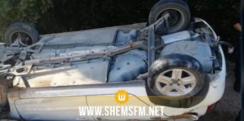 سوسة: انقلاب سيارة من علو أكثر من 10 أمتار على متنها فتاتين