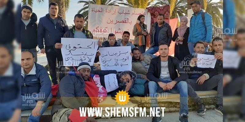 35 معتصما و6 مضربين عـن الطعام لنواب ولاية القصرين: 'وينكم'