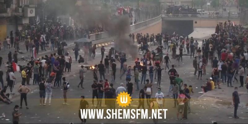 العراق: إصابة 11 متظاهرا على الأقل طعنا بالسكاكين وسط بغداد