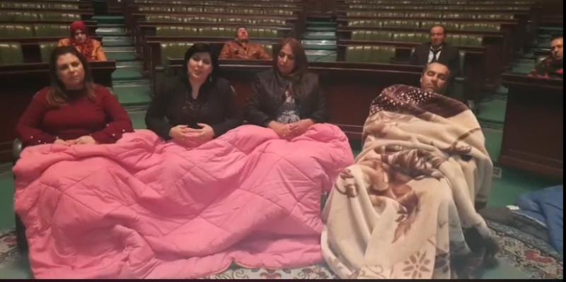 عبير موسي تعلن مواصلة الإعتصام بالبرلمان