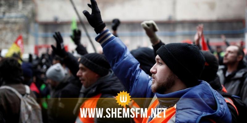 إضراب عام يشل فرنسا لليوم الثاني