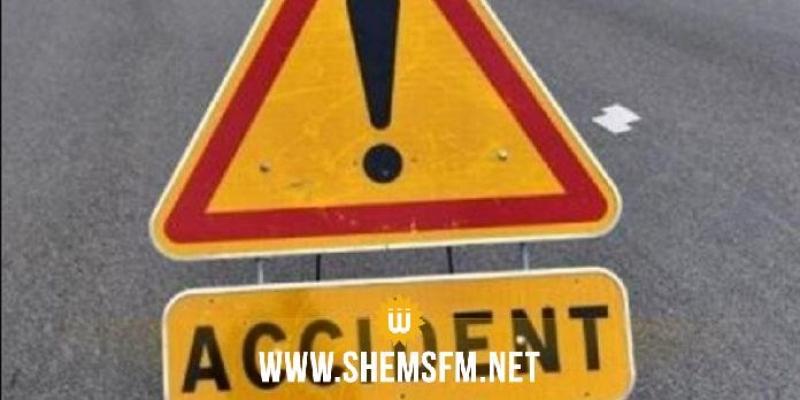 سيدي بوزيد: وفاة شخصين وإصابة إثنين آخرين اثر حادث مرور